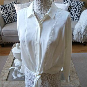 OVERSIZED TIE Front SHEER BLOUSE Nine WEST
